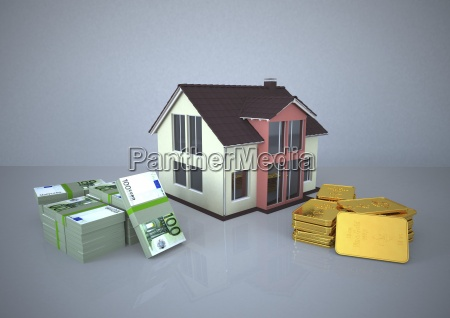 illustration house gold money investment strategy
