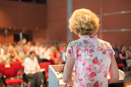 female academic professor lecturing