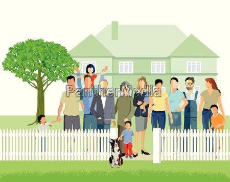 familienhaus mit eltern und grosseltern