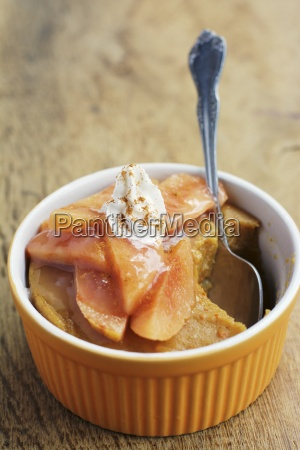 pumpkin custard with slices of quince