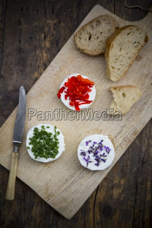 goat cheese with nasturtium chives and