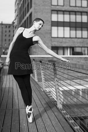 germany hamburg female ballet dancer standing
