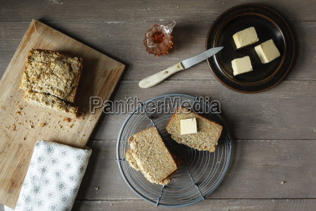 slices of home baked glutenfree buckwheat