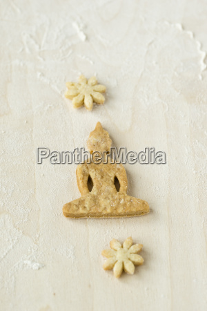 home baked buddha cookie on light