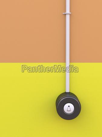 lichtschalter mit symbol auf gelb orange