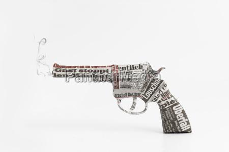 revolver with head line