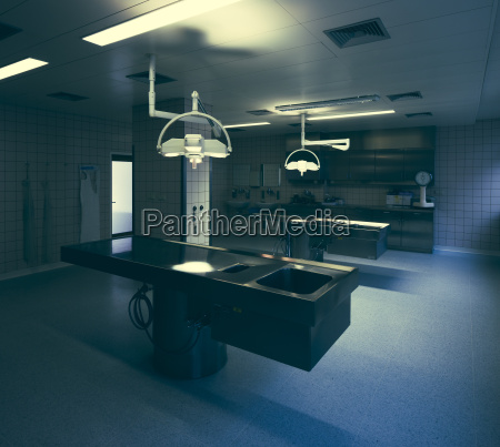dissecting room in hospital