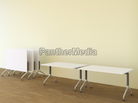 conference tables 3d rendering