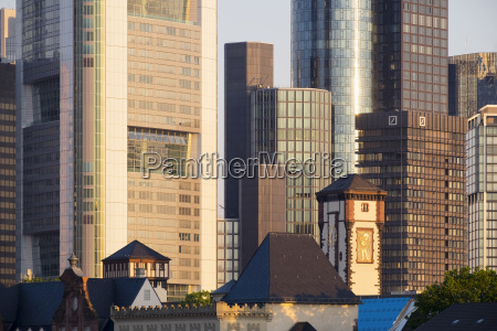 germany hesse frankfurt financial district towers