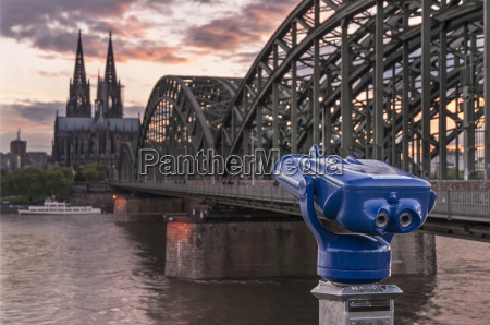 germany cologne hohenzollern bridge and view
