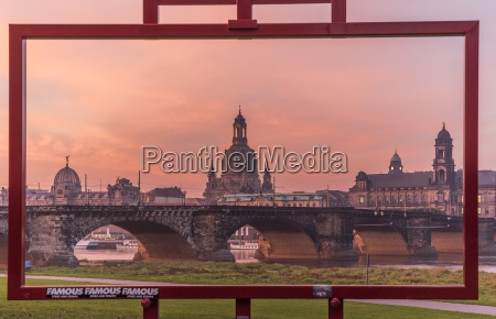 germany dresden view to old city