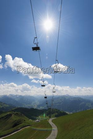 austria tyrol kitzbuehel chair lift brunellenfeld