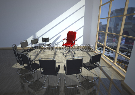 therapy room with chairs 3d rendering