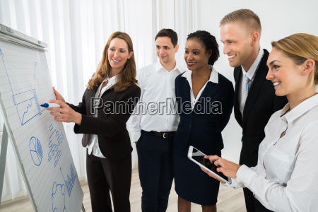 manager explaining business strategy to the