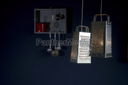 diy lamps made of grater kitchen
