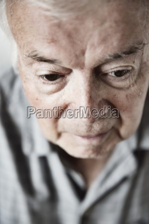 portrait of senior man close up