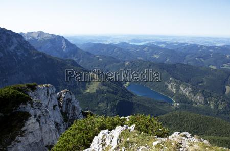 austria salzkammergut eben lake feuerkogel view