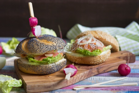 poppy seed roll with cream cheese