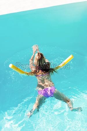 woman swimming in swimming pool