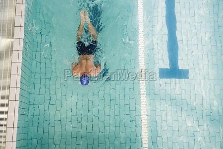 swimmer doing the breaststroke in swimming