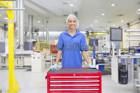 portrait of technician worker smiling at