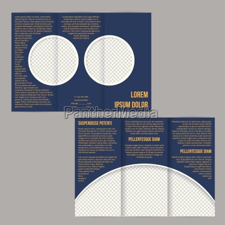 tri fold flyer brochure with photo