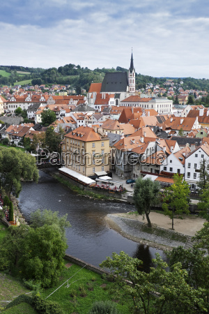 scenic overview of cesky krumlov with