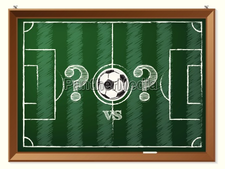 soccer field with question mark vs