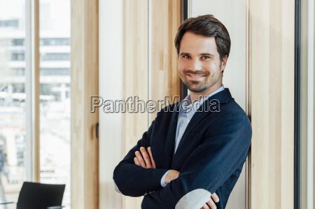 portrait of confident businessman