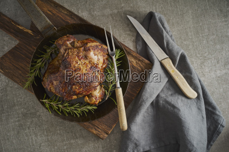 leg of lamb with rosemary frying