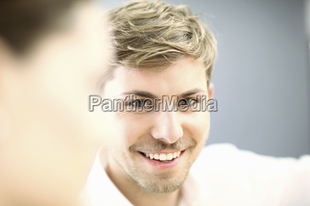 portrait of young office worker smiling