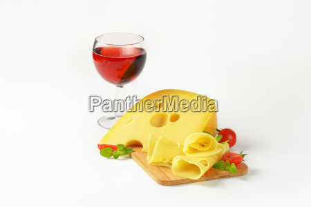 swiss cheese and red wine