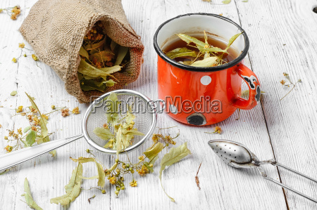 tea with dry linden