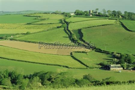 fields and farms near fowey cornwall