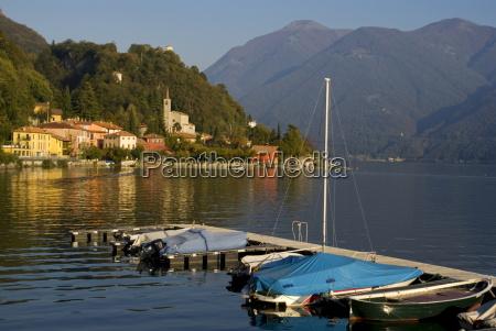 san mamete lake lugano lombardy italian