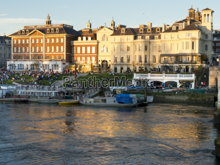 river scene richmond upon thames greater
