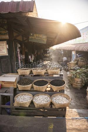 kalaw market at sunrise shan state