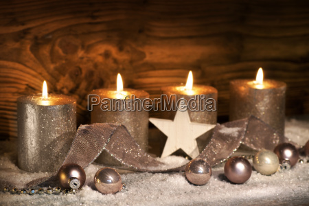 advent motive with four candles