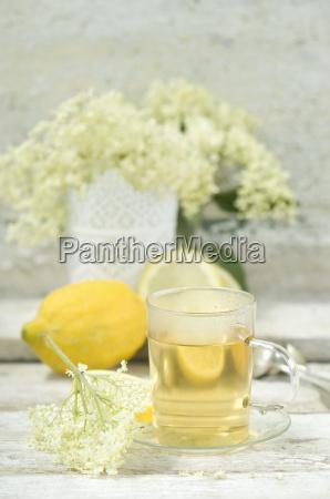 elder flower tea tea cup and