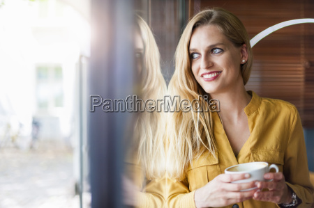 portrait of smiling woman in a