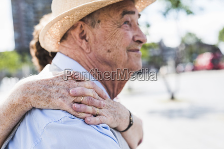 hands of senior woman on the