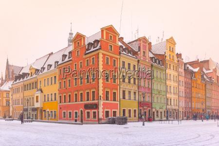 market square in wroclaw poland