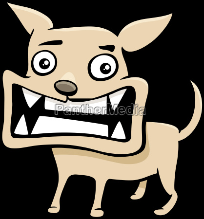 angry puppy cartoon illustration