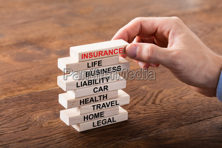 stack of insurance concept
