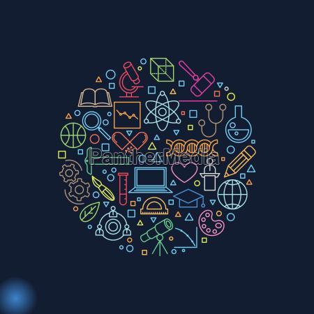 science-konzept, linie, icon, set - 20168309