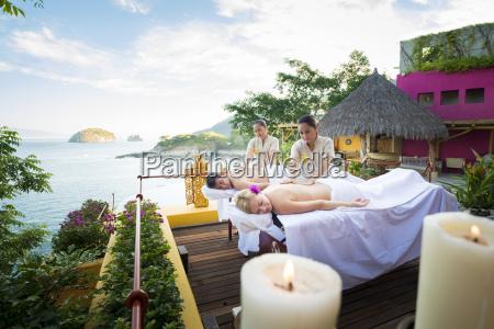luxury vacation with massage on ocean