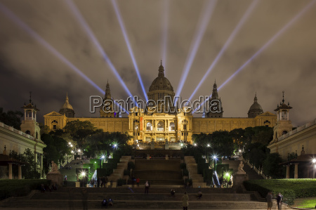 spain bacelona view to illuminated