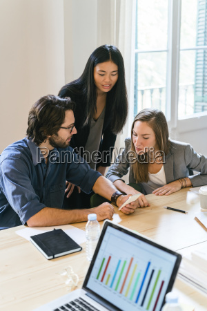 business people having a meeting in