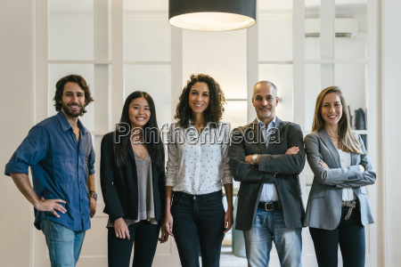 group of confident business people standing