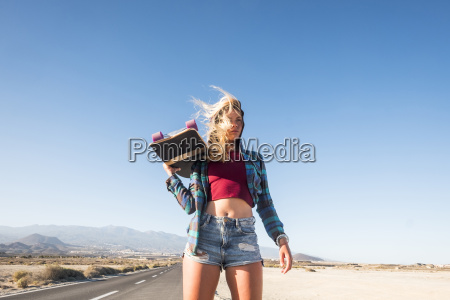 spain tenerife blond young skater with